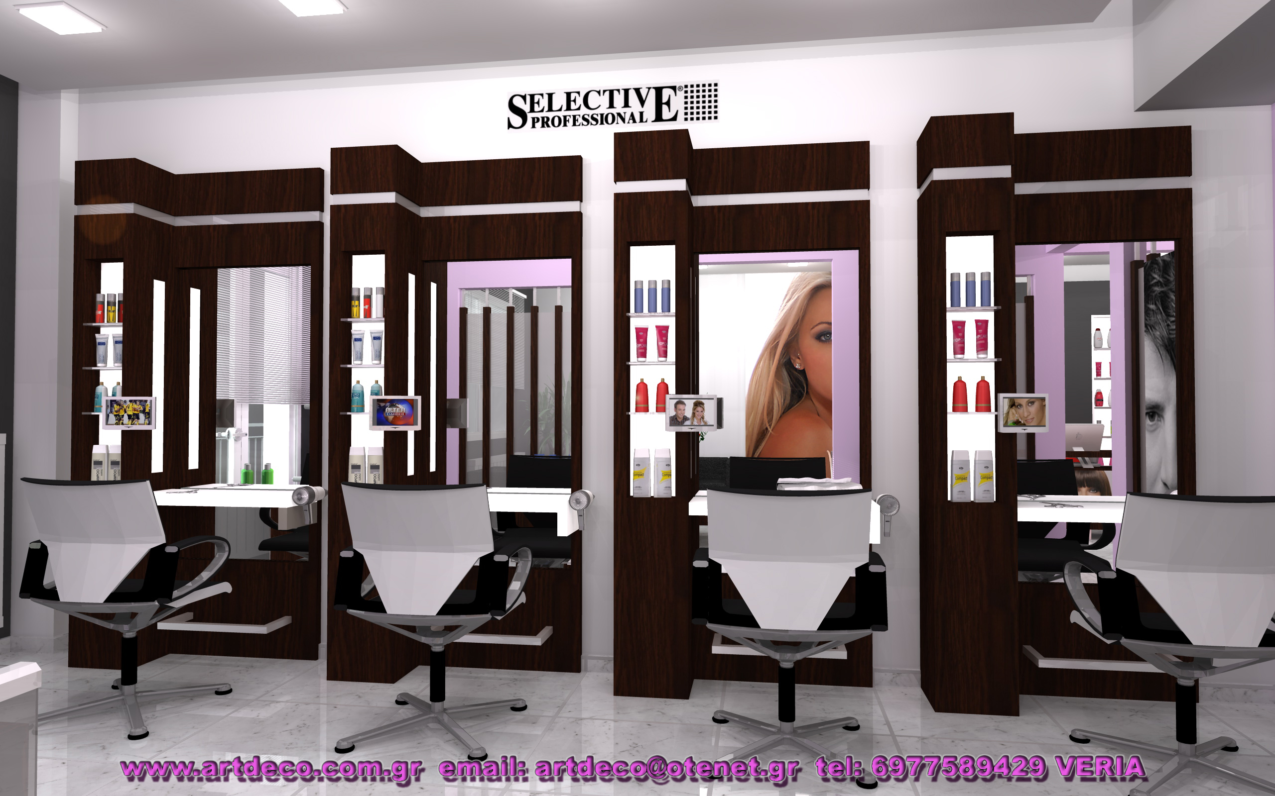 Hair dresser s for Salon art deco